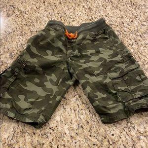 Boys cargo army shorts
